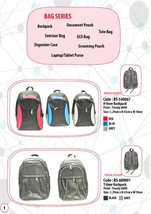 Bag and cap catalog malaysia 2017